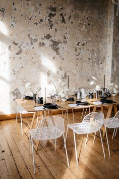 """Minimalist Wedding Vibes at Quay Project, New Zealand  """"Captured by the legend @ciaramulliganvisuals from our @twofoxesrentals open day  Thanks to our pals @theprettypropshop for the epic cutlery, @justmytype_nz for some rad stationery and @clickforhire for the beautiful glassware @lydiareusser Opening Day, Minimalist Wedding, Engagement Shoots, Foxes, Wedding Vendors, Cutlery, Real Weddings, Stationery, Dining Table"""