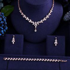 iwowpop Newest Luxury Sparking Brilliant Cubic Zircon Clear Necklace Earrings Wedding Bridal Jewelry Sets Dress Accessories - Brand Name: JaneKelly Fancy Jewellery, Gold Jewellery Design, Stylish Jewelry, Luxury Jewelry, Fashion Jewelry, Bridal Jewelry Sets, Wedding Jewelry, Wedding Accessories, Wedding Hair