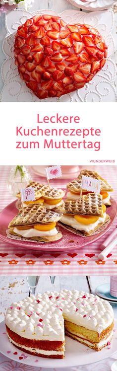 Muttertag im Anmarsch ... ♡ Cake Cafe, Cake & Co, Crazy Cakes, No Bake Desserts, No Bake Cake, Food Inspiration, Baked Goods, Baking Recipes, Cupcake Cakes