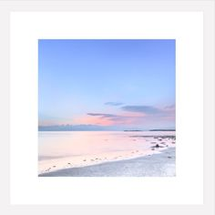 Minimal Home Decor - Oversized Photography Print - Pastel Pink Blue - Sea - Water - Minimalist Photography - Abstract Square Art