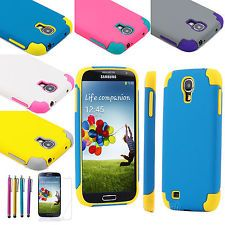 For Samsung S4 i9500 Case Hybrid Cover ,with Screen protector