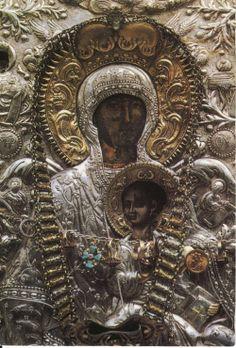 Η Παναγία η Μυροβλύτισσα στην Μονή του Αγ.Νικολάου στην Άνδρο La Toute Sainte  Myrovlytissa le monastère de Saint-Nicolas à Andros