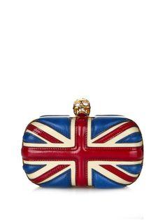 Britannia skull leather box clutch | Alexander McQueen | MATCHESFASHION.COM UK