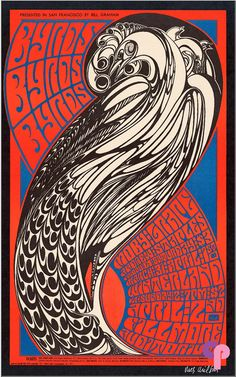 FILLMORE POSTER about THIS for a stunning piece of work? This is a beautiful poster by Wes Wilson. Wes Wilson is on a roll this year and this poster is one of his many stunners, all equally great. Vintage Concert Posters, Posters Vintage, Retro Poster, Poster Poster, Rock Posters, Band Posters, Movie Posters, Psychedelic Rock, Psychedelic Posters