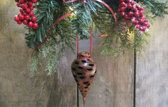 Tree Ornament  Unique Gift  Hand Turned Wood  by HomeRefinery1