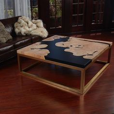 This gorgeous coffee table was crafted by @nugeandwood using Countertop Epoxy. What will you create with epoxy?