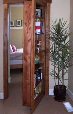 Replace a door with a bookshelf to turn a closet into a secret room