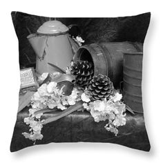 Throw Pillows - Country Living Throw Pillow by Pamela Walton