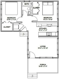 smallhouseplans home bedroom designs two bedroom house plans for small land adventures pinterest large bathrooms and porch - Small House Plan