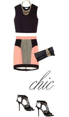 """""""Skirt by MILLY"""" by fashionmonkey1 ❤ liked on Polyvore"""