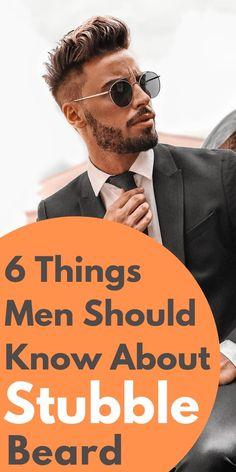 6 Things Men Should Know About Stubble Beard Latest Beard Styles, Hair And Beard Styles, Stubble Beard, Men Beard, Trimming Your Beard, Piercings, Beard Shapes, Short Beard, Moda Masculina