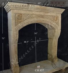 CH227 17th century reclaimed stone fireplace PhoenicianStone.com ...