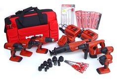 Hilti 03482678 18-volt Cordless Combination Package Including 7 Cordless Tools and accessories - Huge combination of cordless tools including a hammer drill driver, high torque screwdriver, cordless impact wrench, 1/2-Inch impact wrench, impact screw