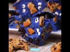 Cookie Monster Fudge - YouTube