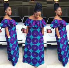 The complete pictures of latest ankara long gown styles of 2018 you've been searching for. These long ankara gown styles of 2018 are beautiful Long African Dresses, Ankara Long Gown Styles, Latest African Fashion Dresses, African Print Dresses, African Print Fashion, Africa Fashion, African Attire, African Wear, African Women