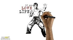 """Download """"Bruce Lee"""" HD Screensaver - 321 FastDraw - Whiteboard Animation #motivationalquote #quotes"""