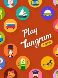 inspiring_ Mobile App  #PlayTangram #Colorful #Modern #Minimal #Puzzle #Learning #Flat #ios #iphone #Toy #Children
