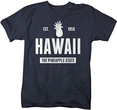 Shirts By Sarah Men's Hawaii State Nickname Shirt The Pineapple State T-Shirts Est. 1959