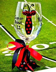 Atlanta Falcons Wine Glass Super Bowl Pilsner by AbodeDecorGifts