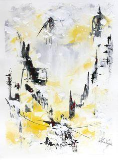 Himalaya, acrylique et encre sur papier BFK Rives, 13 x 10