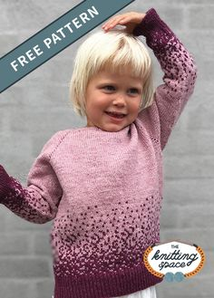 Make this stylish knitted sweater to complete your kid s back to school outfit Knit them in various colors for daily wear Discover over 3 000 free knitting patterns at knittingpatternsfree knittingprojectsfree DIY knittingforkids handmadegifts Kids Knitting Patterns, Knitting For Kids, Knitting For Beginners, Knitting Toys, Knitting Sweaters, Knitting Projects, Sewing Projects, Girls Sweaters, Baby Sweaters