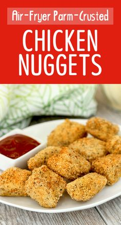 Parm-Crusted Chicken Nuggets + 4 More Healthy Air-Fryer Recipes | Hungry Girl