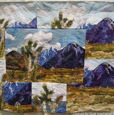 From Mountains to Desert by Carolyn Villars, California. Best of the 2014 Pacific International Quilt Festival - Day 3