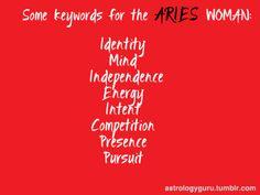 Aries woman keywords