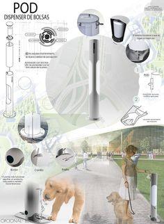 Dispenser de bolsas / Bag Dispenser Dog on Behance Industrial Design Portfolio, Industrial Design Sketch, Life Design, Design Art, Presentation Board Design, Architecture Panel, Automotive Design, School Design, Layout Design