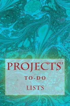 """(6"""" x 9"""" w/Glossy Cover Finish)          Projects' To-Do Lists: Stay Organized (100 Projects) by Richard B. Foster http://www.amazon.com/dp/1530428459/ref=cm_sw_r_pi_dp_s.J3wb114KP0H"""