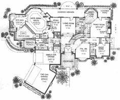 European Style House Plan - 5 Beds 4.50 Baths 4451 Sq/Ft Plan #310-516 Floor Plan - Main Floor Plan - Houseplans.com