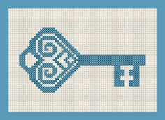 Skeleton Key Cross stitch