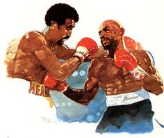 "Thomas ""Hit Man"" Hearns vs. Marvelous Marvin Hagler by Bart Forbes"