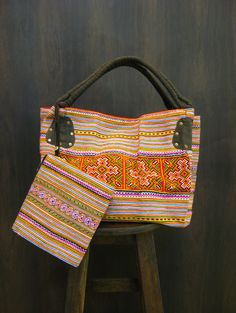 Thai Hmong Embroidered Hand Made Day Bag with Coin Purse $35.00 at http://www.suredesigntshirts.com