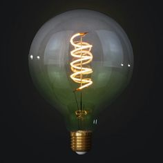 Edison Soft žiarovka GREEN-TRANSPARENT SPHERE Light Bulb, Pastel, Led, Retro, Lighting, Green, Home Decor, Italia, Cake