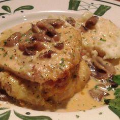 Stuffed Chicken Marsala @ Olive Garden