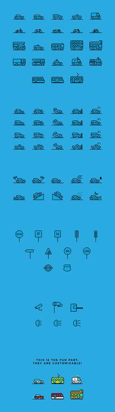 Traffic & Transportation Icons