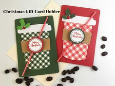 Your place to buy and sell all things handmade Christmas Gift Card Holders, Christmas Party Favors, Merry Christmas, Christmas Ornaments, Bar Wrappers, Neighbor Gifts, Gift Cards, Coffee Cup