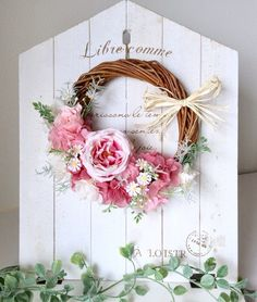pink sweetリース(21cm)|フラワー・リース|Laurel|ハンドメイド通販・販売のCreema