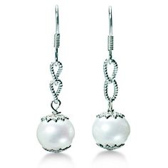 Sterling Silver Cultured Freshwater Pearl Earrings - $55