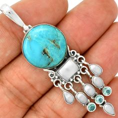 Sleeping Beauty Turquoise 925 Silver Pendant Jewelry PP6615 | eBay