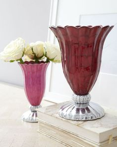 """""""Peony"""" Vases by Julia Knight at Horchow."""