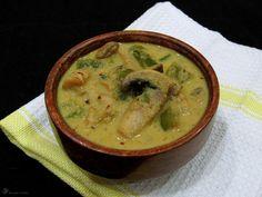 Kari so sampinonmi a zelenou paprikou