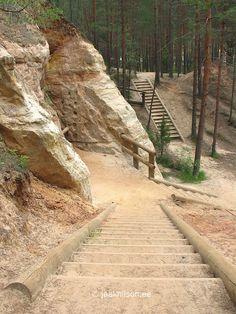 Piusa Glass Sand Mine, Piusa Caves, Põlva County, Estonia