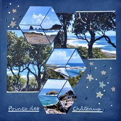 Pointe des Châteaux (Guadeloupe ♡ I own a lot of photos of Guadeloupe and I found inspiration on the site Chantaloup which I hope will not be upset because this scrap is a copy of a pa. Beach Scrapbook Layouts, Scrapbook Designs, Disney Scrapbook, Travel Scrapbook, Scrapbook Paper Crafts, Scrapbooking Layouts, Album Journal, Scrapbook Journal, Scrapbook Pages
