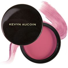 """""""The perfect flush for the end of summer. Dab a little bit of this on your cheeks alone or under powder blush to add some sun-kissed color.""""    Kevyn Aucoin  Creamy Glow Blush in Liquifuchsia"""