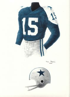 Dallas Cowboys 1960 uniform artwork