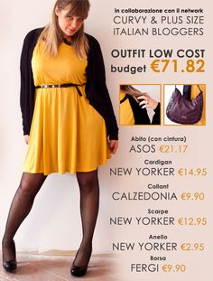 Curvy Outfit Plus Size Low Cost a meno di 100 euro!
