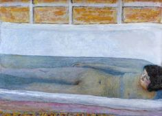 """The Bath""  Author: Pierre Bonnard (French, 1867-1947)  Date: 1925  Medium: Oil on canvas  Location: Tate"
