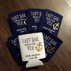 Last Sail before the Veil custom Can Cooler by PoshPrettyPaper